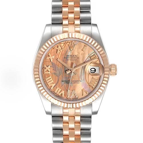 Photo of Rolex Datejust Midsize Steel Rose Gold Goldust Dream Dial Watch 178271 Box Card