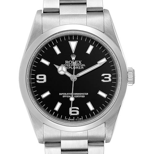 Photo of Rolex Explorer I 36mm Black Dial Automatic Steel Mens Watch 14270