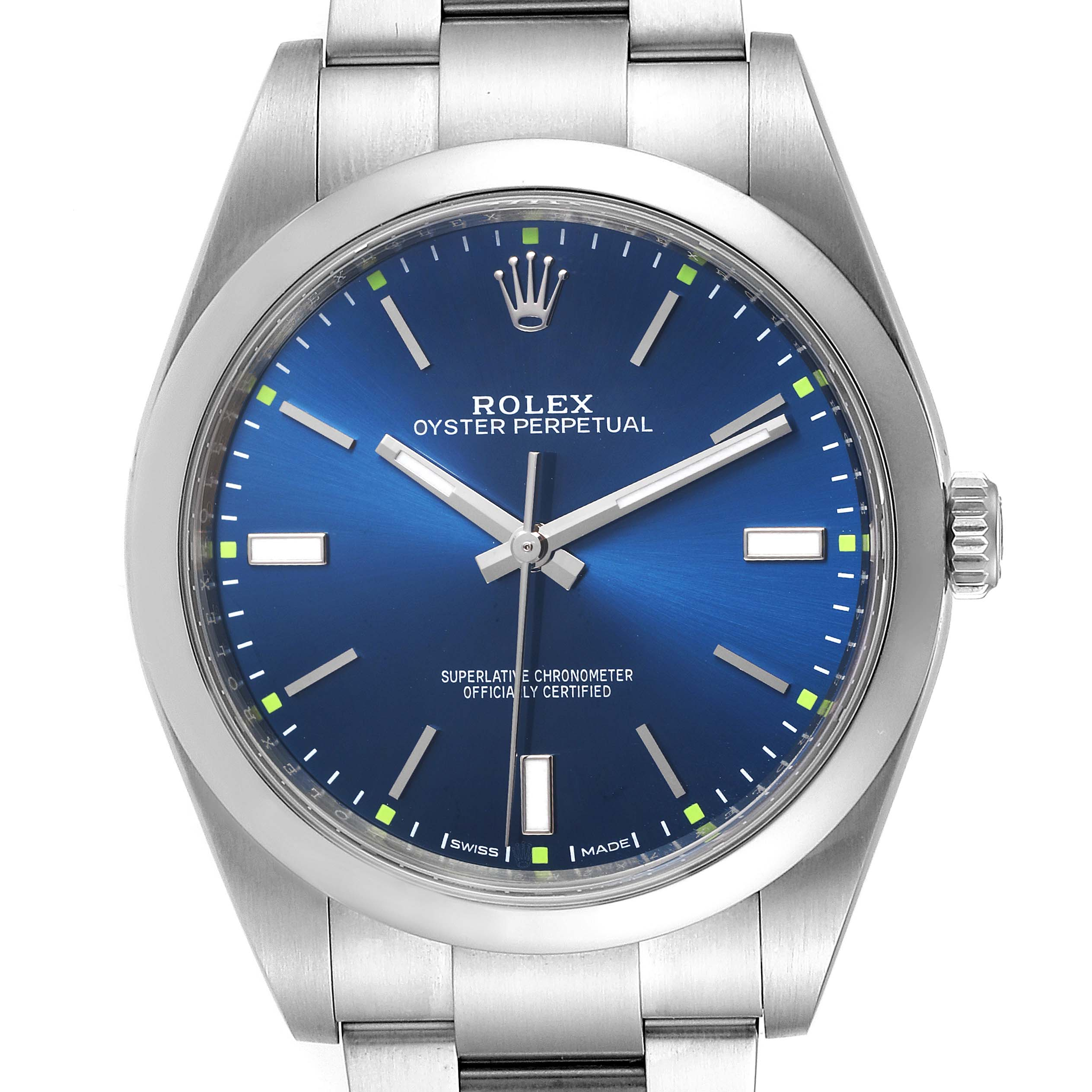 Rolex Oyster Perpetual 39mm Automatic Steel Mens Watch 114300 Box Card