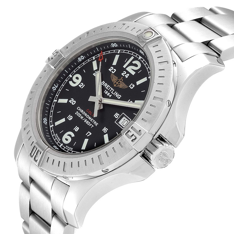 Breitling Colt Black Dial Stainless Steel Mens Watch A74388 SwissWatchExpo