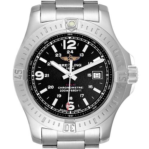 Photo of Breitling Colt Black Dial Stainless Steel Mens Watch A74388
