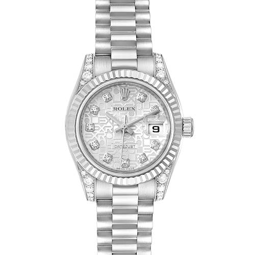 Photo of Rolex President Crown Collection White Gold Diamond Ladies Watch 179239