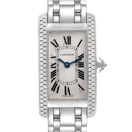 Photo of Cartier Tank Americaine White Gold Diamond Ladies Watch WB7018L1