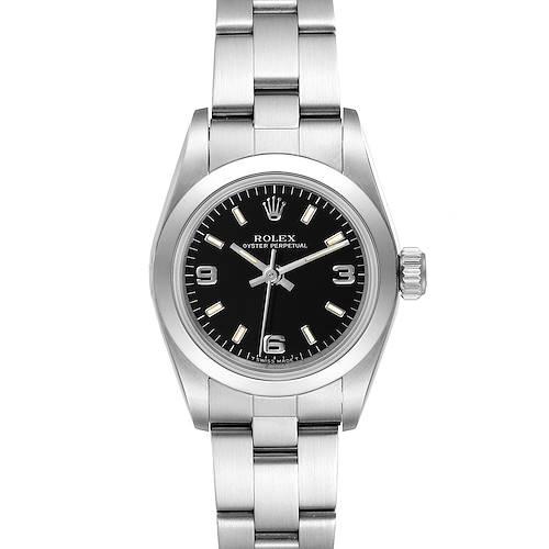 Photo of Rolex Oyster Perpetual Steel Black Dial Ladies Watch 67180