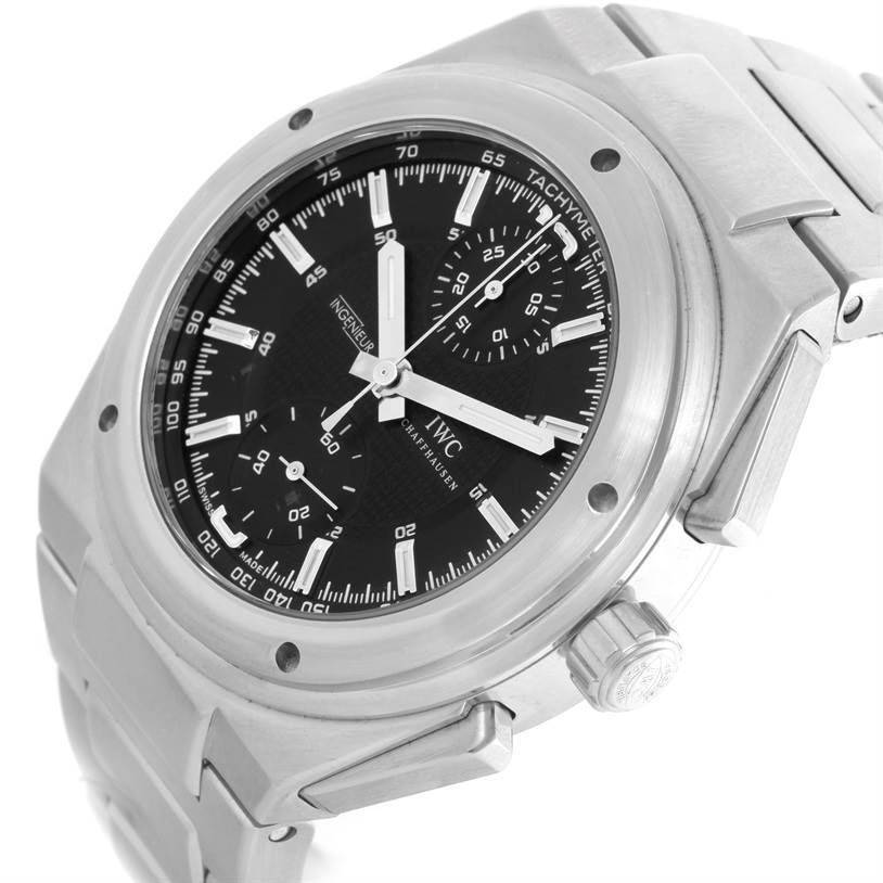 11141 IWC Ingenieur Automatic Chronograph Black Dial Mens Watch IW372501 SwissWatchExpo