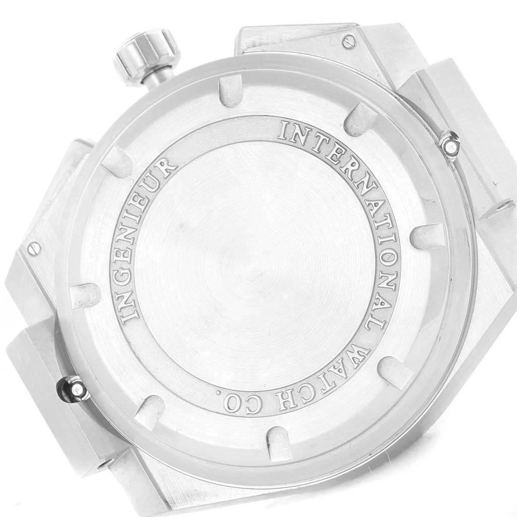 IWC Ingenieur Automatic Chronograph Black Dial Mens Watch IW372501 SwissWatchExpo