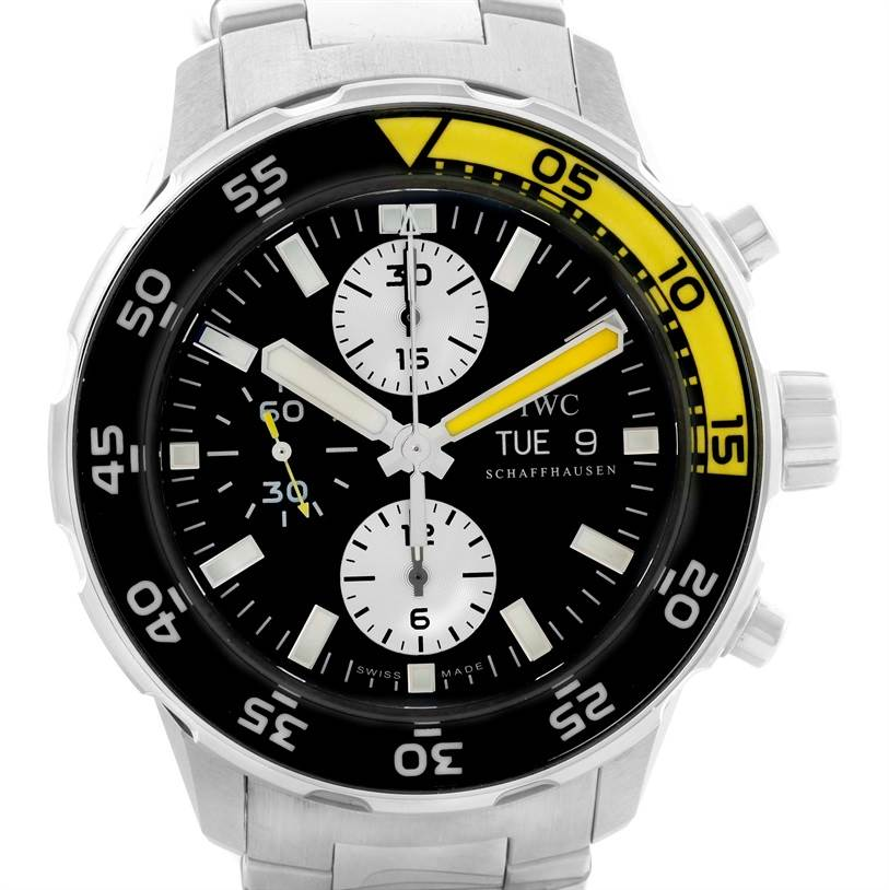 11451 IWC Aquatimer Automatic Chronograph Day Date Mens Watch IW376701 SwissWatchExpo