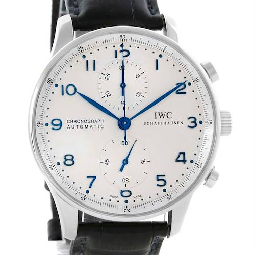 Photo of IWC Portuguese Chrono Automatic Steel Mens Watch IW371417