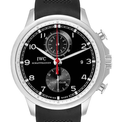 Photo of IWC Portuguese Yacht Club Chronograph Rubber Strap Steel Mens Watch IW390210