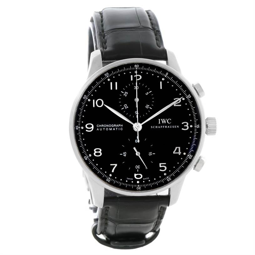 11846 IWC Portuguese Chrono Automatic Black Dial Mens Watch IW371447 SwissWatchExpo
