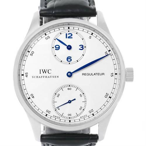 Photo of IWC Portuguese Regulateur Steel Mens Watch IW544401