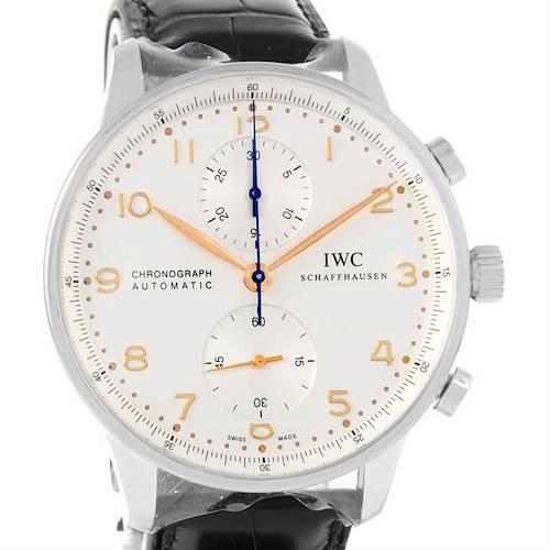 Photo of IWC Portuguese Chrono Automatic Steel Mens Watch IW371445 Unworn