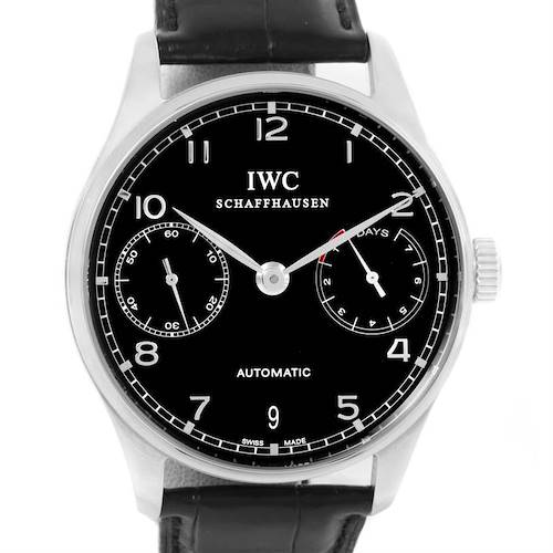 Photo of IWC Portuguese Chrono 7 day Power Reserve Watch IW500109 Box Papers