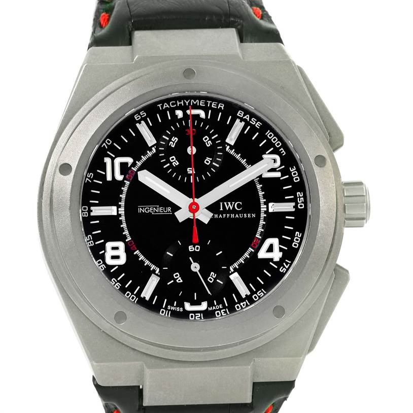 iwc ingenieur amg titanium black dial automatic mens watch. Black Bedroom Furniture Sets. Home Design Ideas