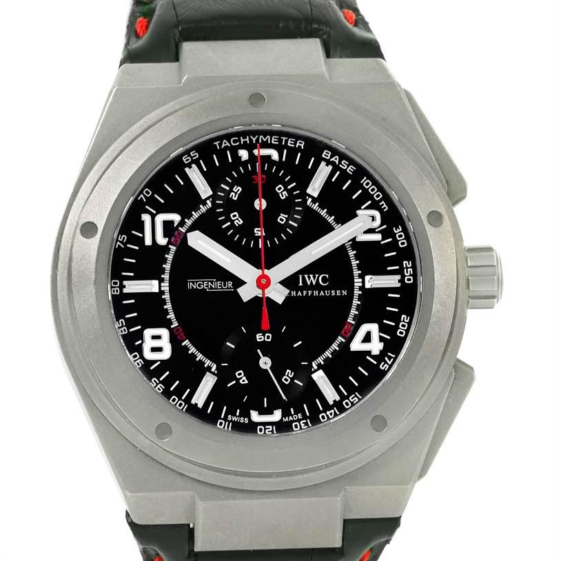 iwc ingenieur amg titanium black dial automatic mens watch. Black Bedroom Furniture Sets. Home Design Ideas