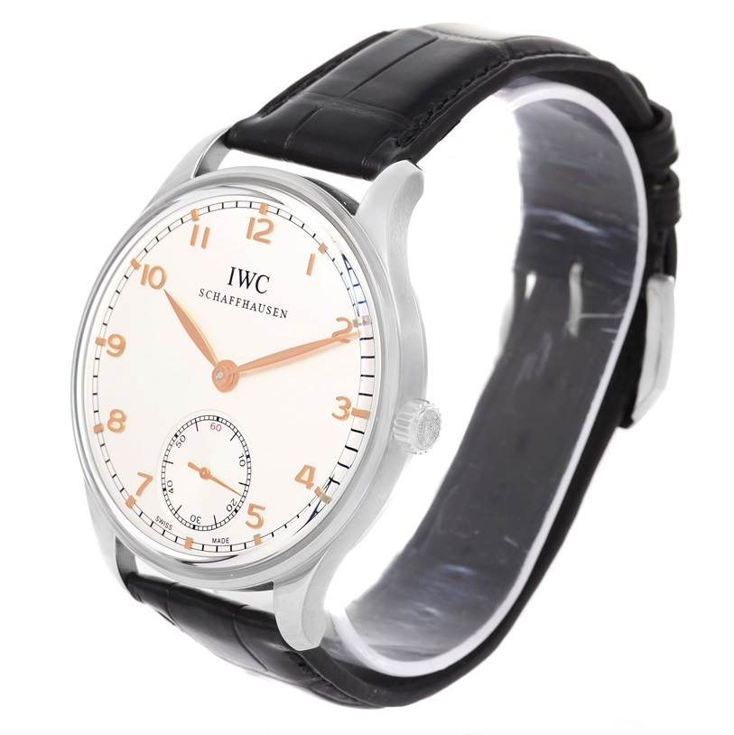 11829 IWC Portuguese Chrono Manual Stainless Steel Mens Watch IW545408 SwissWatchExpo