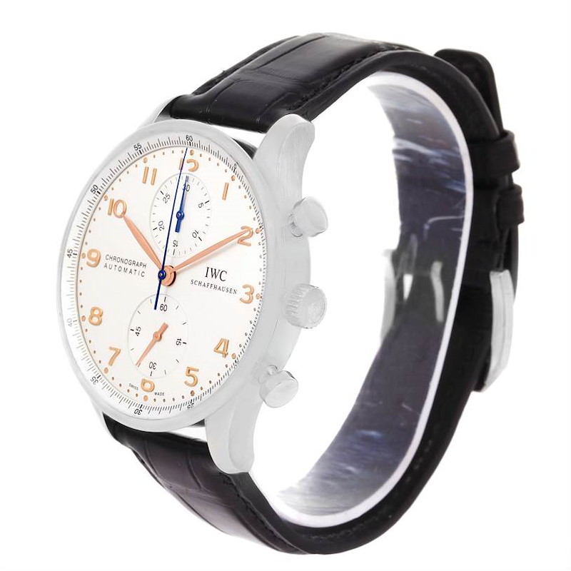 IWC Portuguese Chrono Automatic Stainless Steel Mens Watch IW371401 SwissWatchExpo