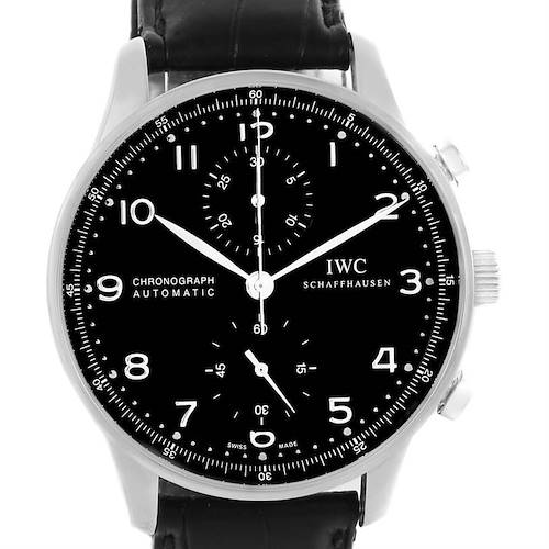 Photo of IWC Portuguese Chrono Automatic Black Dial Mens Watch IW371447