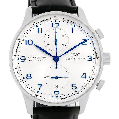 Photo of IWC Portuguese Chrono Automatic Steel Mens Watch IW371417 Box Papers