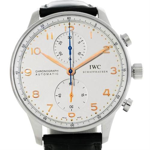 Photo of IWC Portuguese Chrono Automatic Stainless Steel Mens Watch IW371445