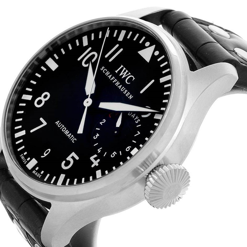 IWC Big Pilot Automatic Stainless Steel Black Dial Mens Watch IW500901 SwissWatchExpo