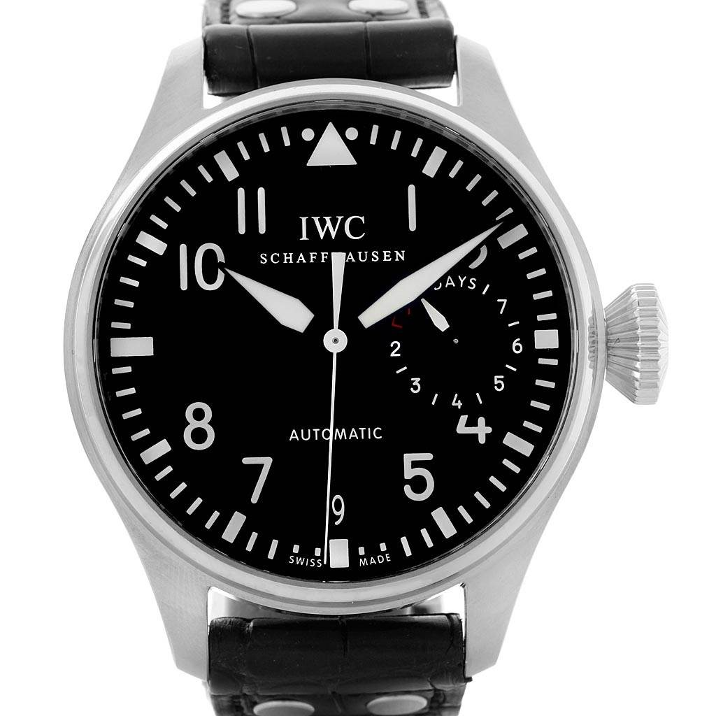 19439 IWC Big Pilot Automatic Stainless Steel Black Dial Mens Watch IW500901 SwissWatchExpo