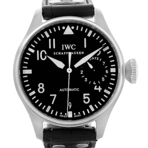 Photo of IWC Big Pilot Automatic Stainless Steel Black Dial Mens Watch IW500901