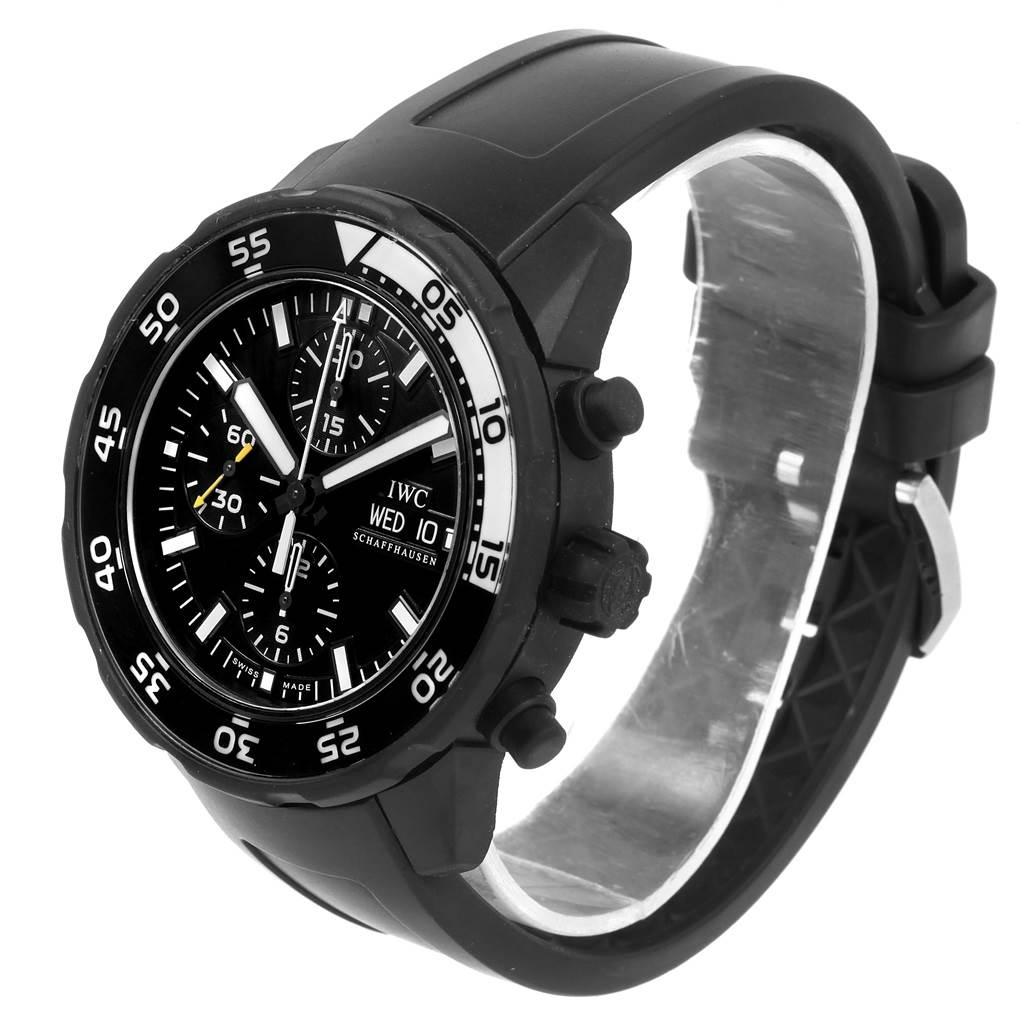 21304 IWC Aquatimer Chronograph Rubber Strap Mens Watch IWC376705 Box Card SwissWatchExpo
