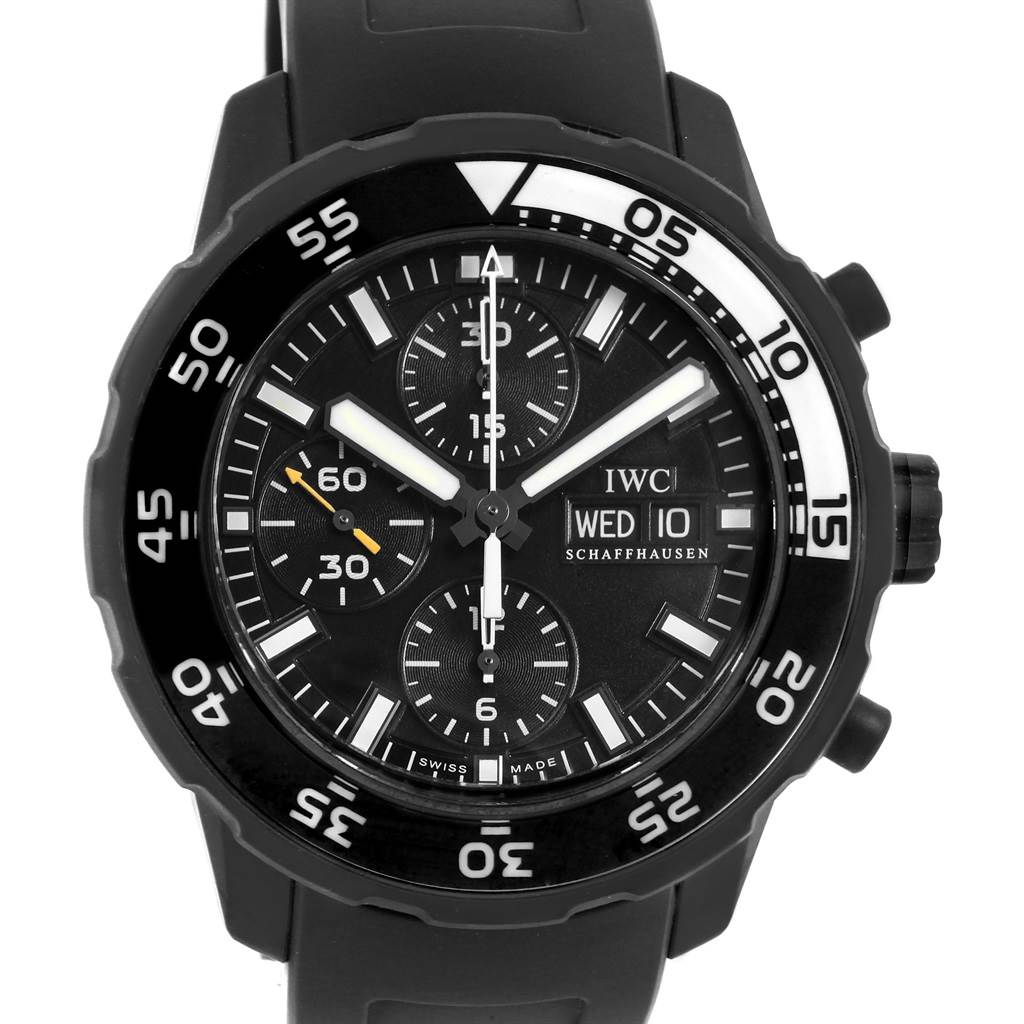Photo of IWC Aquatimer Chronograph Rubber Strap Mens Watch IWC376705 Box Card