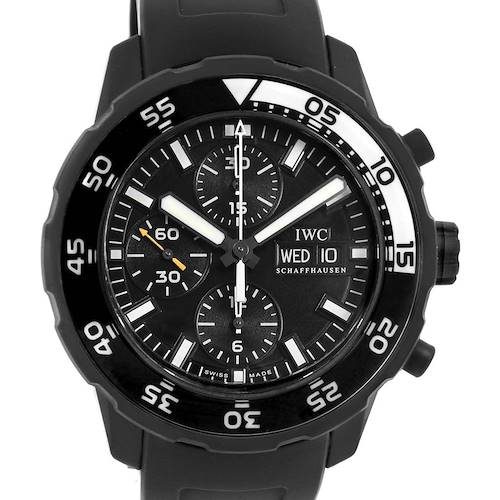 Photo of IWC Aquatimer PVD Special Edition Chronograph Mens Watch IWC376705 Box Card
