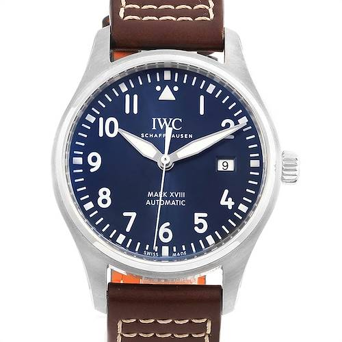 Photo of IWC Pilot Mark XVIII Petit Prince Blue Dial Mens Watch IW327010