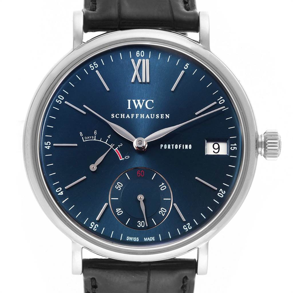 Photo of IWC Portofino 8 Days Power Reserve 45mm Steel Mens Watch IW510106 Card