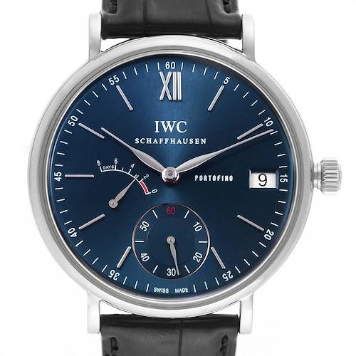 IWC Portofino 8 Days Power Reserve 45mm Steel Mens Watch IW510106 Card