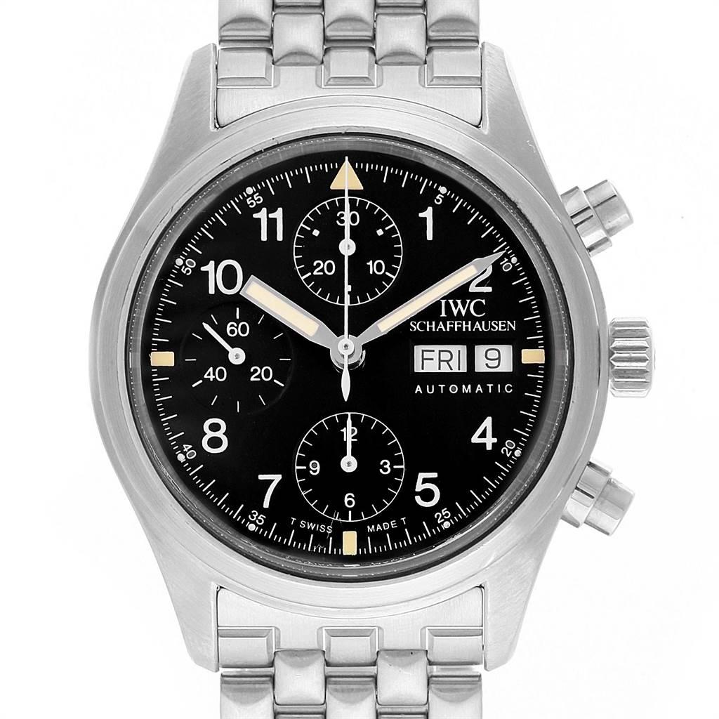 21975 IWC Pilot Flieger Chronograph Day Date Automatic Watch IW370607 SwissWatchExpo