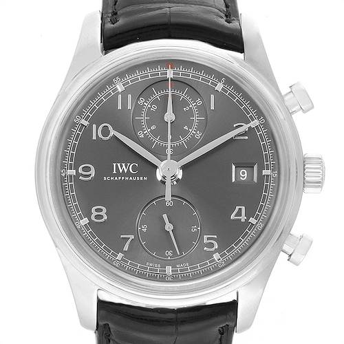 Photo of IWC Portuguese Classic Automatic Steel Mens Watch IW390404 Card