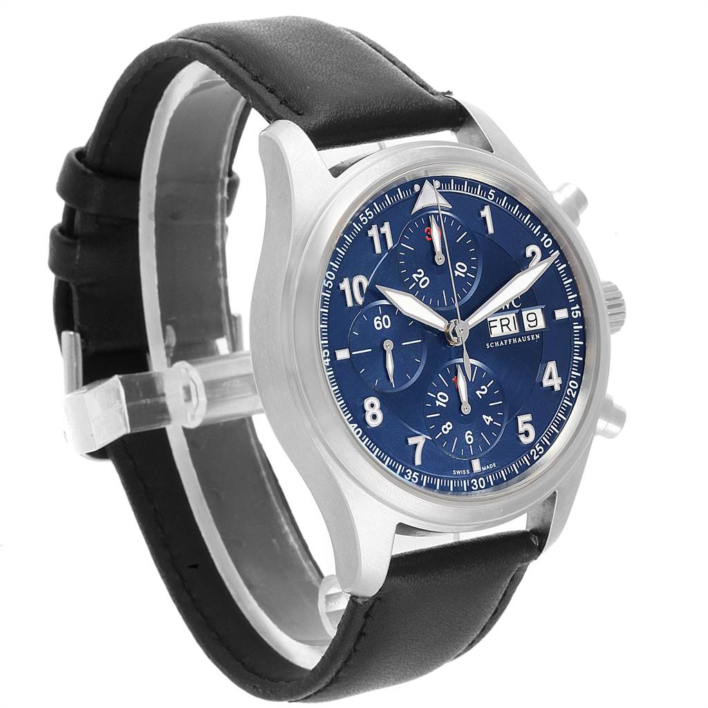 22028 IWC Pilot Chronograph Laureus Sport Limited Edition Mens Watch IW371712 SwissWatchExpo