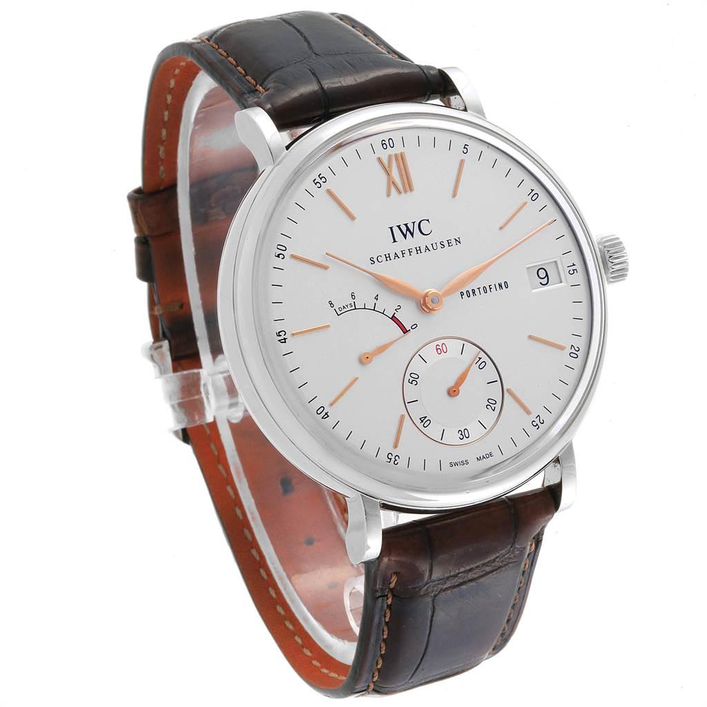 IWC Portofino 8 Days Power Reserve 45mm Silver Dial Mens Watch IW510103 SwissWatchExpo