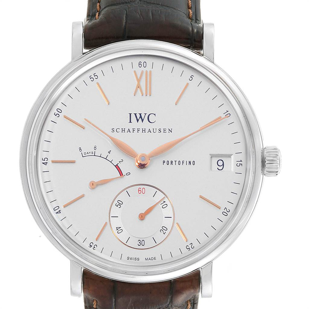 Photo of IWC Portofino 8 Days Power Reserve 45mm Silver Dial Mens Watch IW510103