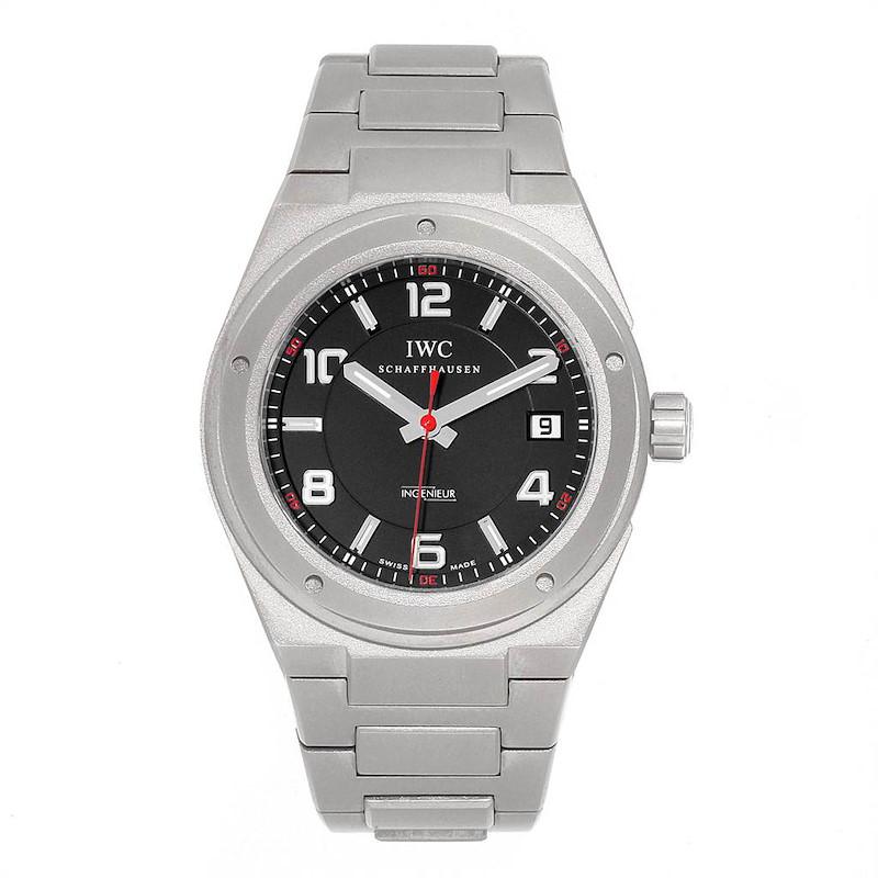 IWC Ingenieur AMG Titanium Black Dial Automatic Mens Watch IW322702 SwissWatchExpo