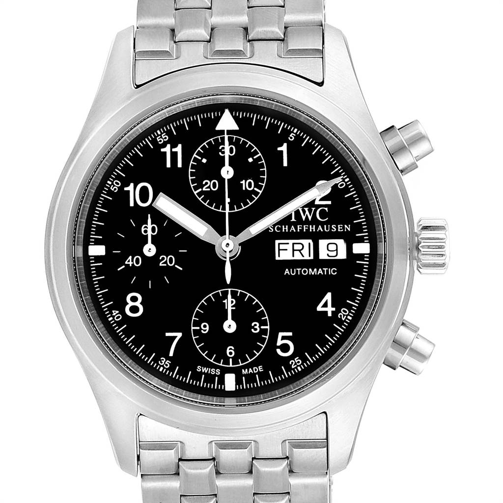 Photo of IWC Pilot Flieger Chronograph Day Date Automatic Mens Watch IW370603