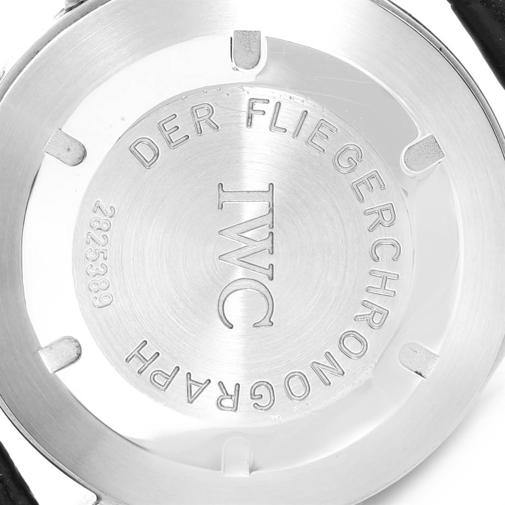 IWC Pilot Flieger Chronograph Day Date Automatic Mens Watch IW370603 SwissWatchExpo
