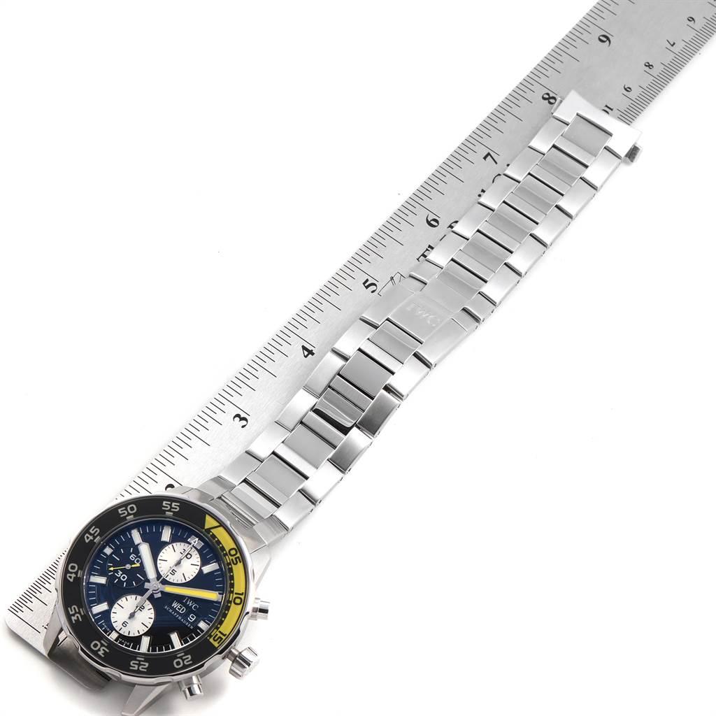 IWC Aquatimer Chronograph Black Yellow Day Date Mens Watch IW376701 SwissWatchExpo