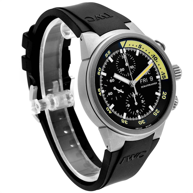 IWC Aquatimer GST Automatic Chronograph Day Date Mens Watch IW371918 SwissWatchExpo