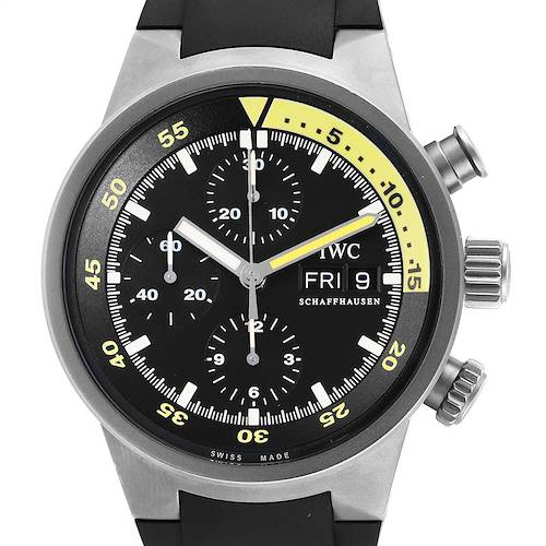 Photo of IWC Aquatimer GST Automatic Chronograph Day Date Mens Watch IW371918 Card
