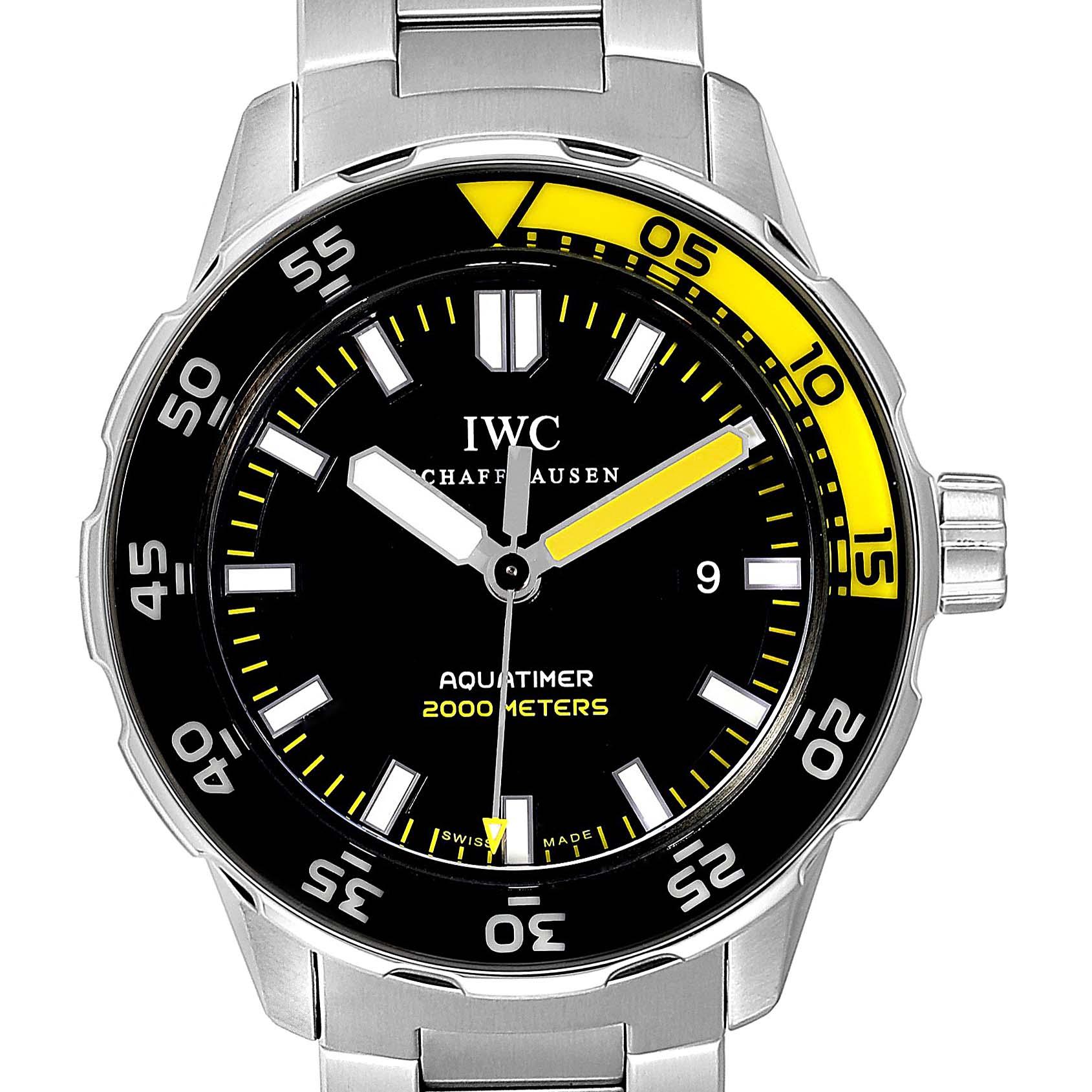 IWC Aquatimer 2000 Automatic Steel Mens Watch IW356801 Box Card