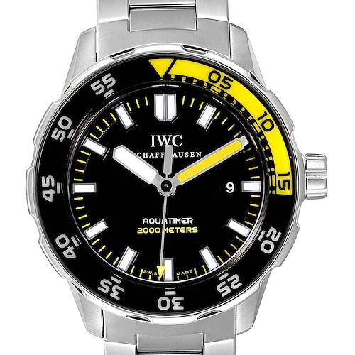Photo of IWC Aquatimer 2000 Automatic Steel Mens Watch IW356801 Box Card