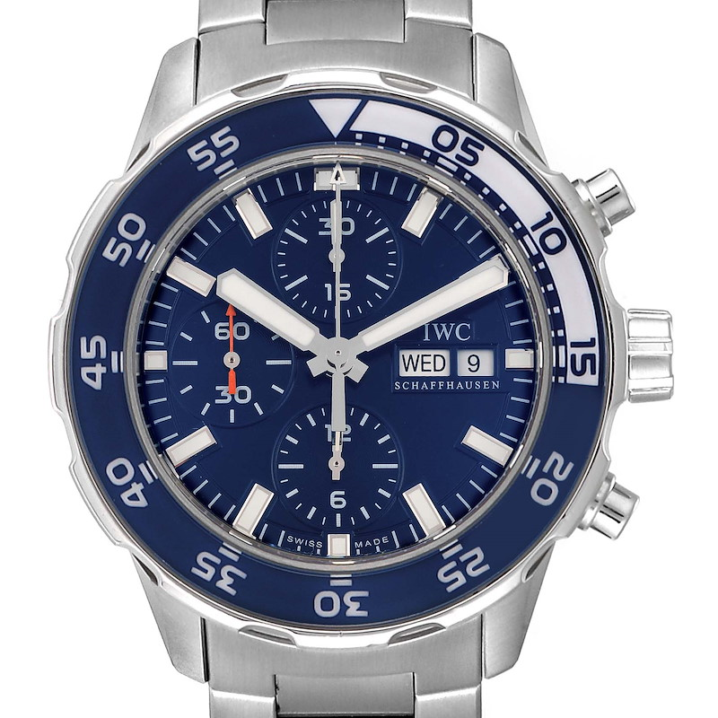 IWC Aquatimer Automatic Chrono Day Date Mens Watch IW376710 SwissWatchExpo