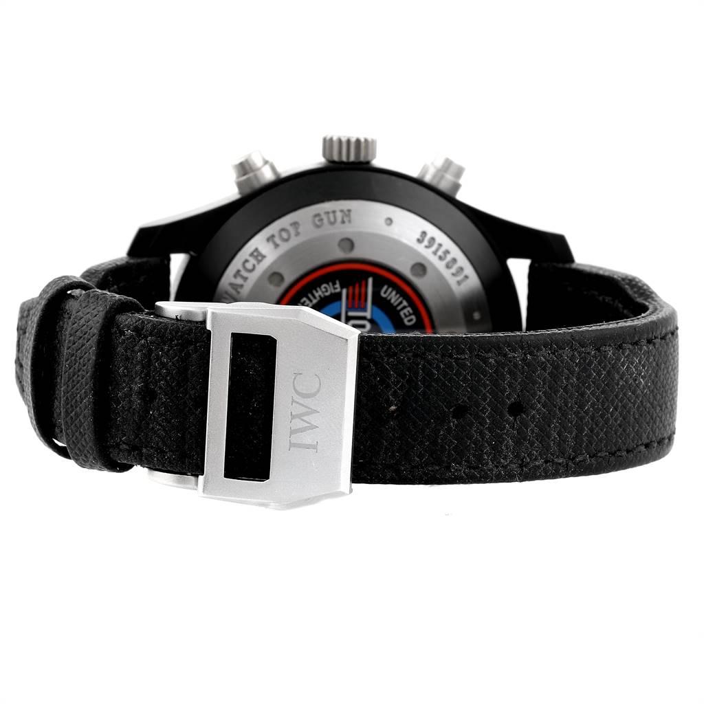 IWC Pilot Top Gun Chronograph Ceramic Titanium Mens Watch IW388001 SwissWatchExpo