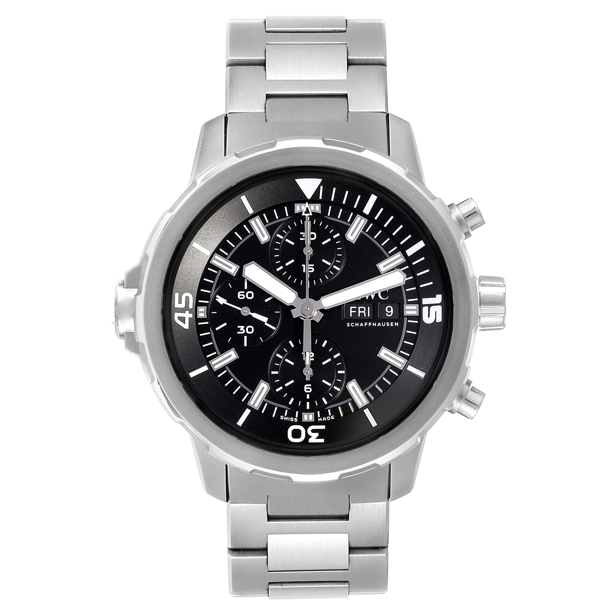 IWC Aquatimer Day Date Automatic Chronograph Mens Watch IW376804 Unworn SwissWatchExpo