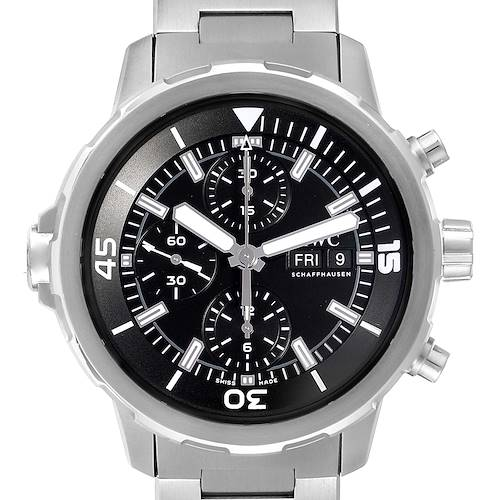 Photo of IWC Aquatimer Day Date Chronograph Steel Mens Watch IW376804 Box Card Unworn